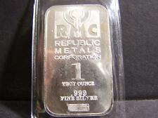 Rmc 1 Troy Ounce .999 Fine Silver Bar Lot 102