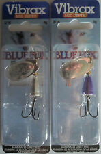 2 - BLUE FOX - Classic Vibrax Spinners - Size 2 - 3/16 oz.   Two Popular Colors!