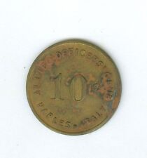 WWII Allied Officer's Club, Naples, Italy, Good For 10 Cents Token