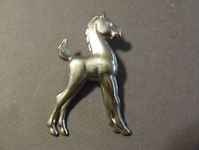 VINTAGE SILVERTONE TIN HORSE COLT PIN BROOCH (E)