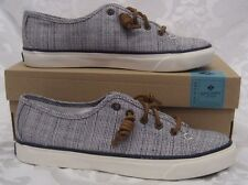 NEW WOMENS SPERRY TOPSIDER CANVAS SEACOAST CROSSHATCH NAVY SIZE WOMEN 9