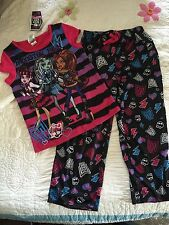 NEW Monster High Pajamas 2 Pc Set Size Large 10 12