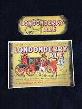 Hornung Beer Londonderry Ale Label IRTP Philadelphia PA 1930's