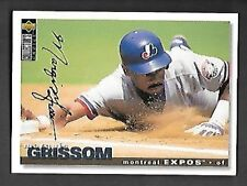MARQUIS GRISSOM  1995 COLLECTOR'S CHOICE GOLD SIGNATURE #237   FREE COMBINED S/H