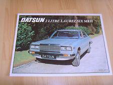 FOLLETO de auto 1979 Datsun Laurel seis Mk11 de 2 litros Nuevo