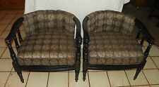 Pair of Retro Barrel Back Armchairs / Club Chairs  (AC103)