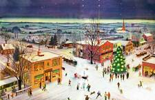 Vintage Old Time Christmas Town Winter