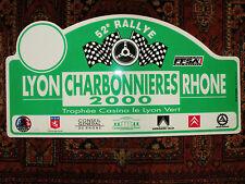 Plaque Rallye LYON CHARBONNIERE 2000