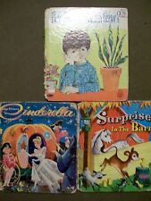 3 VINTAGE BOOKS - SURPRISE IN THE BARN, CINDERELLA & HOW DOES MY GARDEN GROW?