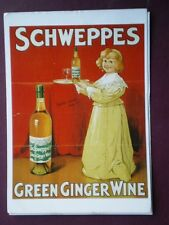 POSTCARD  SCHWEPPES GREEN GINGER WINE