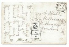 Hollaway London WW1 Soldiers Postcard Home from Somme censored FPO D.25 1918