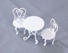 Half Scale 1/24 G - Ice Cream Parlor Table & Chairs dollhouse miniature EIWF444