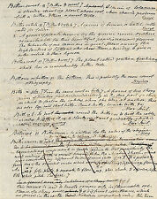 Noah Webster Manuscript: A rare page from the original draft of 1828 dictionary
