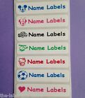 50 Iron on Waterproof School Clothes Care Nursing Home Name Labels Tapes Tags
