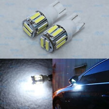 2Pcs Xenon White 168 194 2825 T10 10SMD LED Bulbs For Under Mirror Puddle Lights