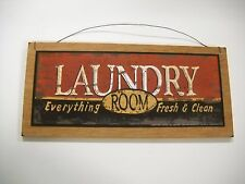 laundry everything fresh and clean country home decor wooden wall art sign