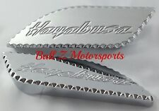 99-02-03-04-05-06-07 Hayabusa Custom Chrome Side Gas Tank Pads w/Ball Cut Edges!