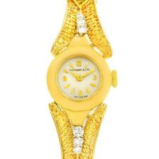 Tiffany 14k Yellow Gold Diamond Vintage Cocktail Ladies Watch 4803