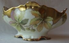 ANTIQUE BAWO & DOTTER ELITE LIMOGES FRANCE HAND PAINTED WILD THISTLE BOWL 8-1/2""
