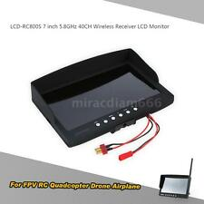 LCD-RC800S 7 inch 5.8GHz 40CH Wireless Receiver LCD Monitor for FPV Drone G5M9