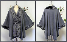 New Absolutely Versatile One SizeTrimmed with faux fur collar AND cuffs poncho