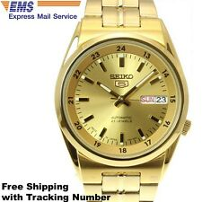 SEIKO 5 SNK574 SNK574J Automatic Stainless Steel Gold Men's Watch Made in Japan