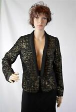 New Made Fashion Week for Impulse Women's Black/Gold Lined Jacket  Size M $109