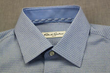 ROBERT GRAHAM GERRARD RC Men BLUE GINGHAM CHECKER WOVEN SHIRT NWT 15.5   EUR 39