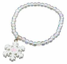 Zest Girls Clear Iridescent Bead Bracelet with Snowflake