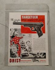Vintage Daisy Air Targeteer Pistol Paper Advertisement
