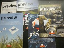 ROYAL MAIL STAMP PREVIEW BOOKLETS 5 2008 BUTTERFLIES RNLI  FARNBOR0UGH