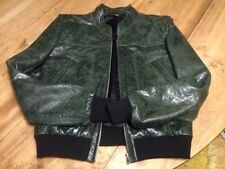 rare BALENCIAGA 07 runway green chevre goat leather biker bomber jacket $3850