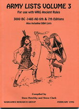 WRG: Army Lists Volume 3 for 7th Ed Ancient Rules