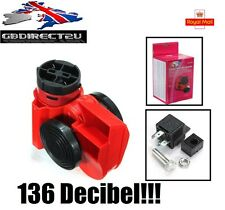 HUGE! 136db 12V Air Horn Snail Compact for Car Truck Vehicle Motorcycle NEW UK