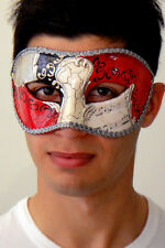 Mens Masquerade Mask ITALIAN Made Vivaldi Eyes Silver OVERNIGHT Metro Aust