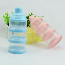 Portable Infant Baby Feeding Milk Powder &Food Bottle Container 3 Cells Grid Box