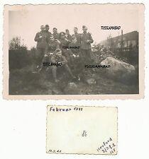 Herford Soldaten Gruppenfoto Wehrmacht alte Häuser Foto