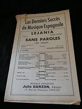 Partition Lejania Canaro Sans paroles Fernandez Music sheet