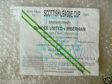 Tickets- Scottish League Cup Semi FINAL -1993 DUNDEE UNITED v HIBERNIAN, 21 Sept