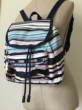 LeSportsac Multi-color Beach Stripe Small Edie Backpack 9808 D828 NWT