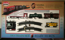 HO Train Set Ready To Run Canadian Classic Models Railroads CN Rail Cars Lighted