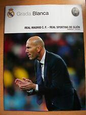 REAL MADRID v SPORTING GIJON PROGRAMME 17.1.2016 Poster Gareth Bale