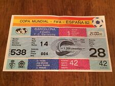 ENTRADA TICKET MINT WC82 WORLD CUP SPAIN 1982 URSS UNION SOVIET BELGIUM MATCH 42