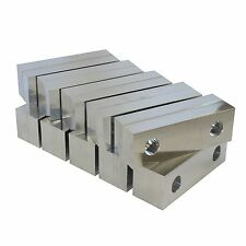 "6x2x1"" 10 Pack Top/Bottom Reversible Vise Jaws Aluminum Soft Jaws Kurt 6"" Vises"