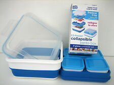 COOL GEAR EZ FREEZE COLLAPSIBLE 9 PIECE BENTO BOX FREEZER TRAY CONTAINER SET