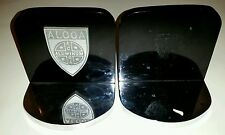 Lot of 2 VINTAGE ALCOA ALUMINUM Bookstand Bookends DESK PEN Heavy Rare