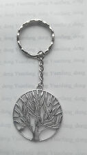 A Tibetan Silver Round Tree of Life (40*40mm), KEYRING, Key Chain Handbag, Charm