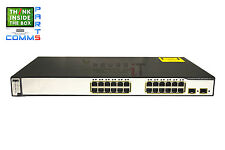 CISCO CATALYST WS-C3750-24PS-S SWITCH - stack damage *12 MONTH WARRANTY*