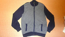 Jeff Banks Cotton Silk Cashmere Cardigan L Navy jumper sweater xl