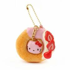 Sanrio Hello Kitty Squishy Sweets Doughnut Ball Chain Strap Charm (Plain)